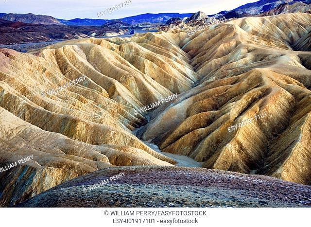 Zabriski Point Mudstones form Badlands Death Valley National Park California
