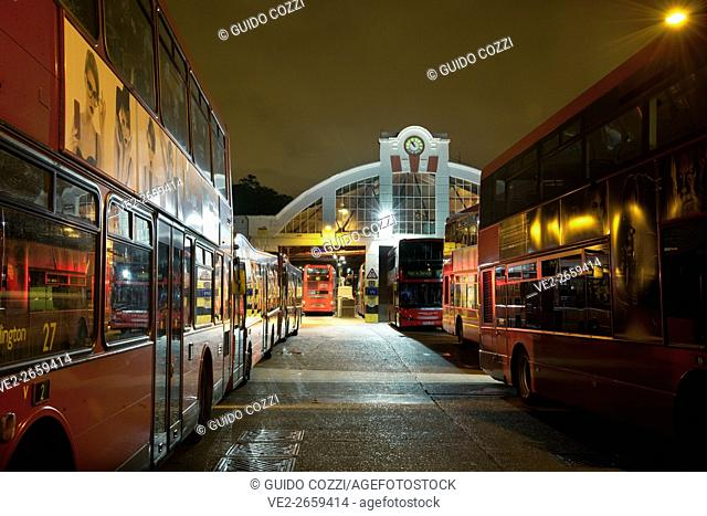 United Kingdom, England, London. Chiswick Bus Depot