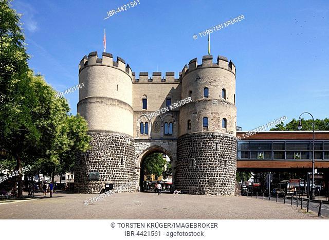 Hahnentorburg, old city gate, Rudolfplatz, Cologne, North Rhine-Westphalia, Germany