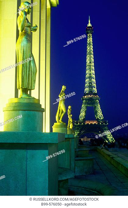 Trocadero, Eiffel Tower, Paris, France