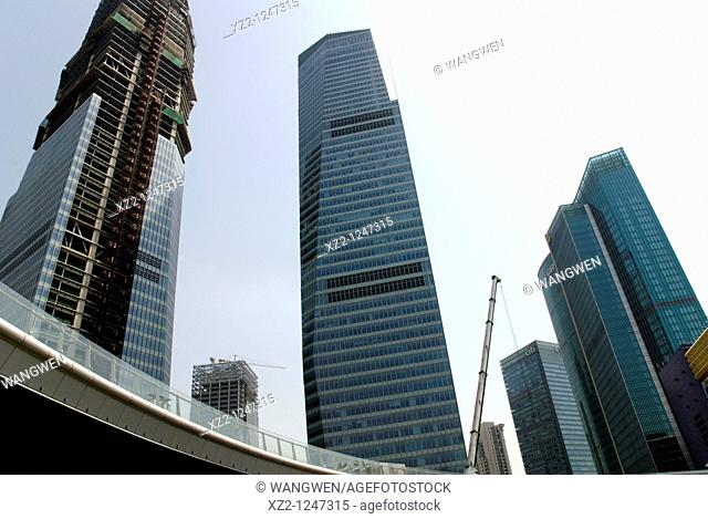 The high-rise buildings in pudong, Shanghai