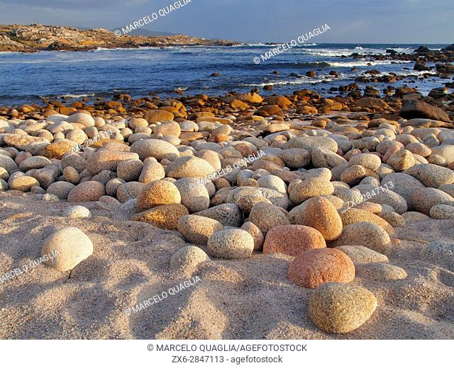 Praia O Portiño. Quilmas Parish, Carnota Council. Costa da Morte, A Coruña province. Galicia Autonomous community. Spain