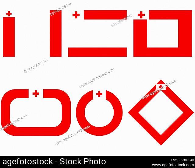 Fahnen von Tonga mit Textfreiraum - Flags of Tonga with copy space