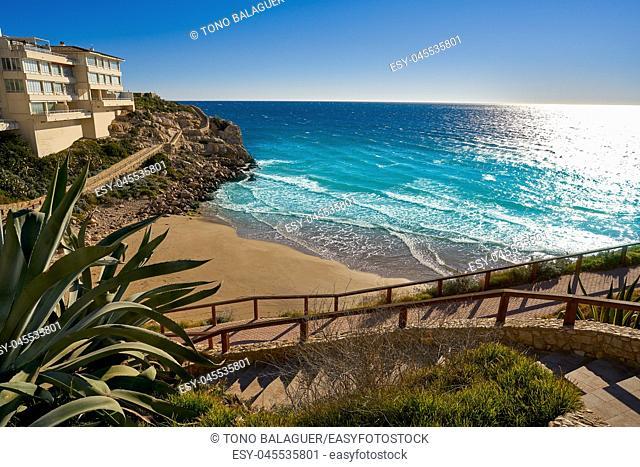 Cala Llenguadets Platja Salou beach in Tarragona of Catalonia