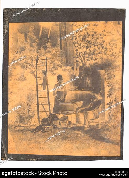The Laundry. Artist: Louis-Adolphe Humbert de Molard (French, Paris 1800-1874); Date: 1840s; Medium: Albumen paper negative; Dimensions: Image: 5 13/16 x 5 5/16...