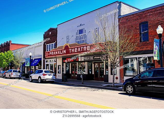 The Franklin Theatre on Main Street in downtown Franklin, Tennessee, some 21 miles from Nashville