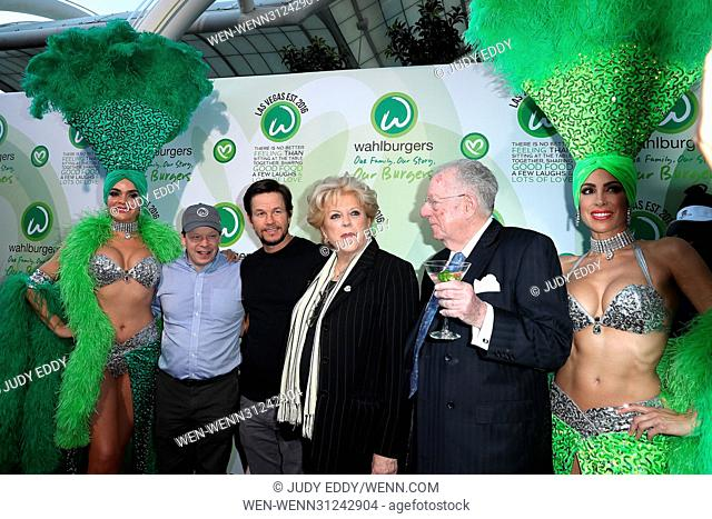 Grand Opening of Wahlburgers at Grand Bazaar Shops at Bally's Las Vegas Featuring: Paul Wahlberg, Mark Wahlberg, Mayor Carolyn Goodman