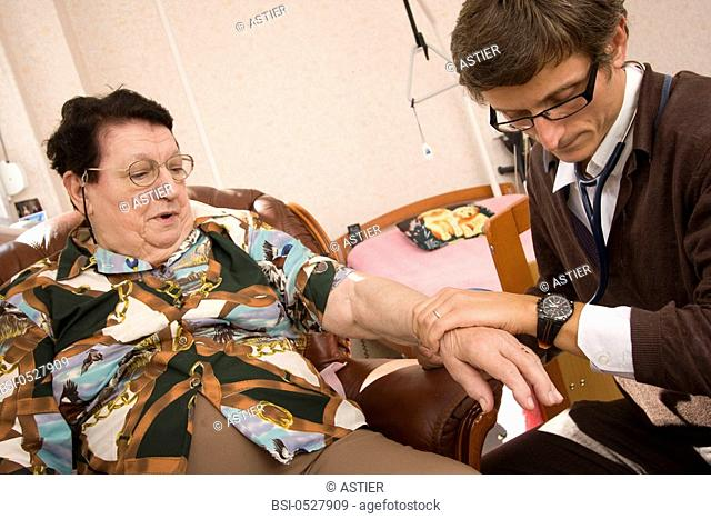 Photo essay from general practitioner, Nord, France. Consultation in a medicalized retirement home