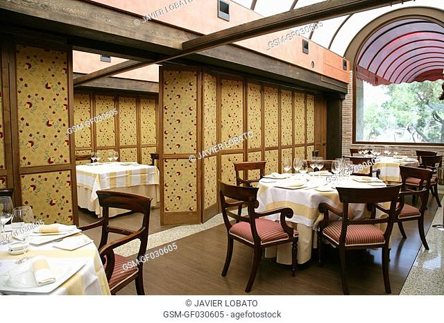 Private room at Urrechu's restaurant
