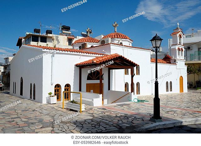 Panagia-Kirche, Ierapetra, Kreta, kirche, panagia, glockenturm, turm, glocke, glocken, griechenland, weiß, kreuz