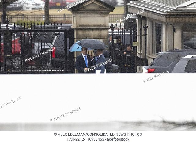 Governor Andrew Cuomo (Democrat of New .York) arrives at the White House prior to a scheduled meeting with United States President Donald J