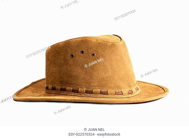 Leather hat isolated