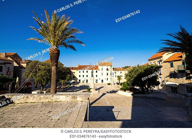 Main square, Makarska, Dalmatia, Croatia