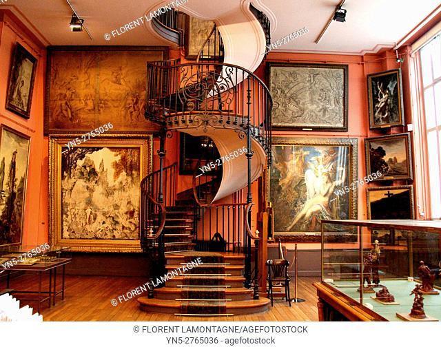 Museum of the french painter Gustave Moreau (1826-1898), Paris, Ile de France