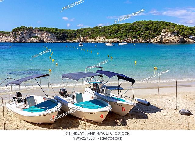 Beach at Cala Galdana, Menorca, Balearic Islands, Spain