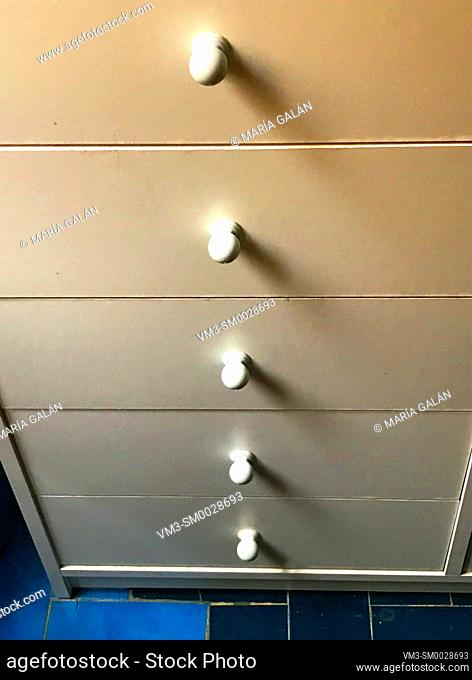 Drawers of kitchen furniture