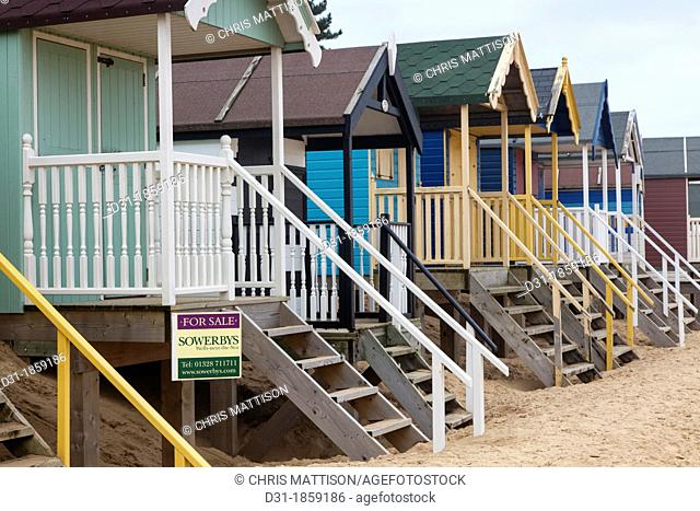 Beach huts, Wells-next-the-Sea, North Norfolk, UK