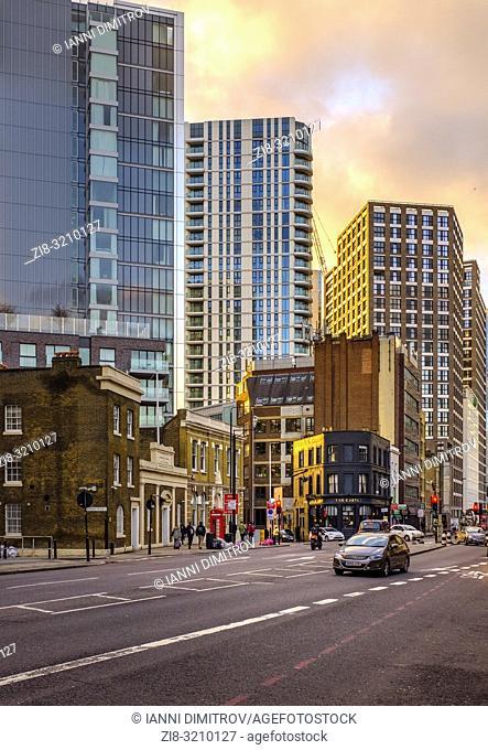 England,London, Whitechapel,Commercial Road A13