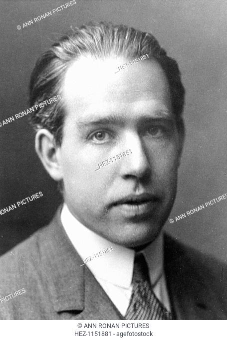 Niels Bohr, Danish physicist, c1922. Niels Henrik David Bohr (1885-1962) is best known for his work on quantum mechanics and atomic structure