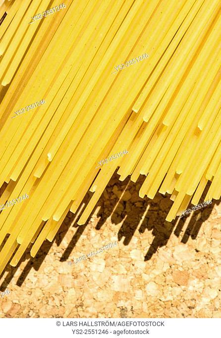 Close up of spaghetti. Concept of italian cuisine