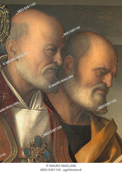 Frari Triptych, by Giovanni Bellini, 1485 - 1488 about, 15th Century, panel, cm 184 x 79