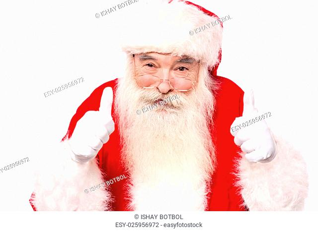 Santa claus giving best wishes
