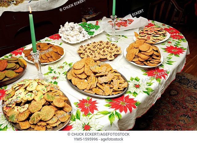 Variety of Christmas cookies on display