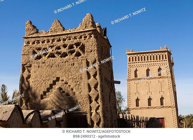 Traditional berber architecture at the Xaluca Hotel Erfoud, Morocco