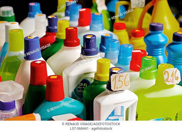 Colorful bottles. Sevilla. Andalucia. Spain