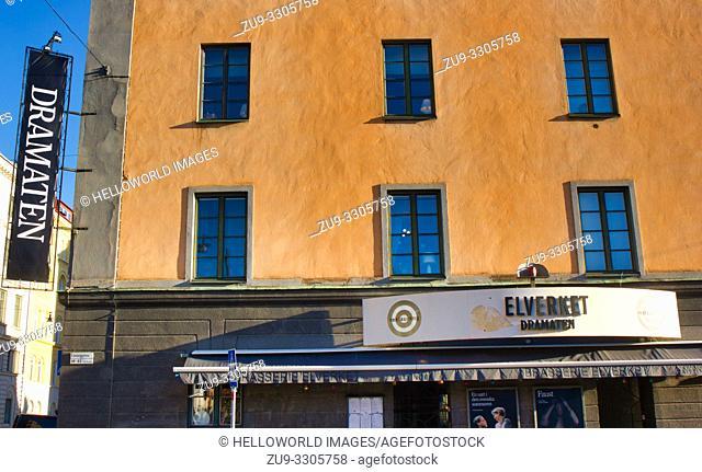 Elverket Dramaten Theatre and Brasserie Elverket, Linnegatan, Ostermalm, Stockholm, Sweden, Scandinavia