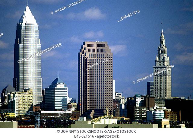 Downtown Cleveland skyline. Ohio, USA