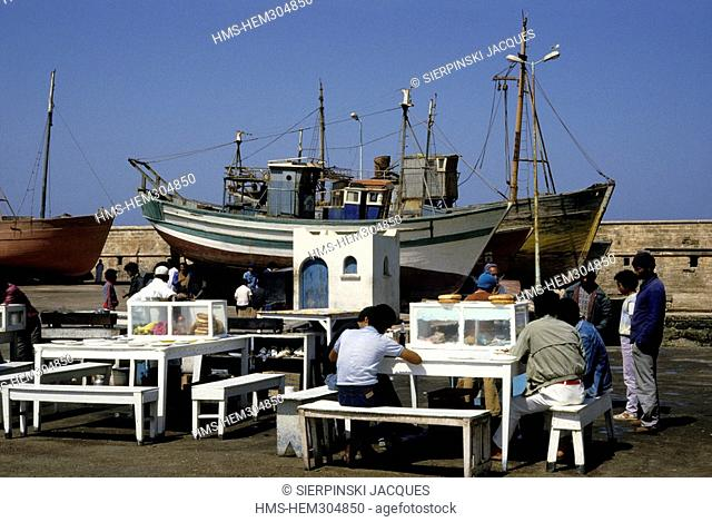 Morocco, Essaouira, fishing harbour