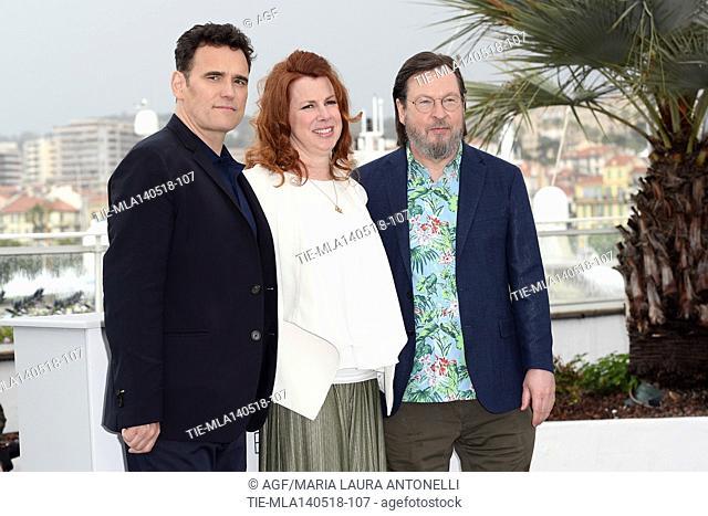 Lars Von Trier, Siobhan Fallon Hogan, Matt Dillon during 'The House that Jack Built' photocall, 71st Cannes Film Festival, Cannes, 14 May 2018