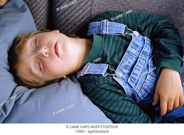 Young boy sleeping