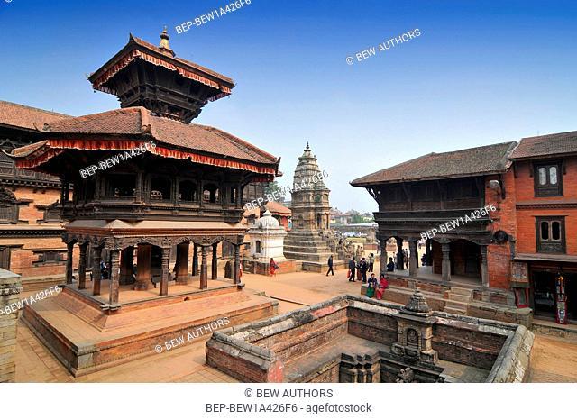 Nepal, Bhaktapur, Restored Chyasilin Mandapa