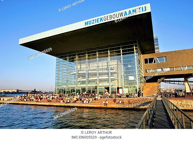 The Netherlands, North Holland, Amsterdam, Music building Muziekgebouw aan 't ij