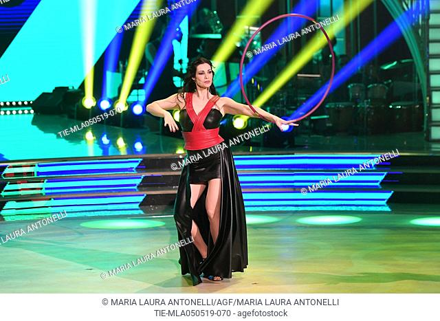 Manuela Arcuri during the performance at the tv show Ballando con le stelle (Dancing with the stars) Rome, ITALY-04-05-2019