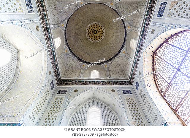 The Interior Of Bibi Khanym Mosque, Samarkand, Uzbekistan
