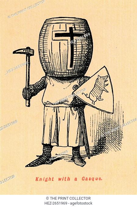 'Knight with a Casque', c1860, (c1860). From The Comic History of England, Volume I, by Gilbert A A'Beckett. [Bradbury, Agnew, & Co., London]