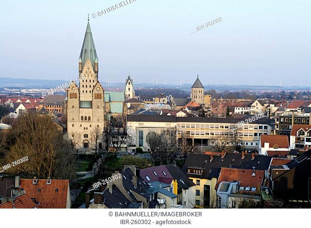 Paderborn North Rhine Westphalia Germany center with the cathedrale
