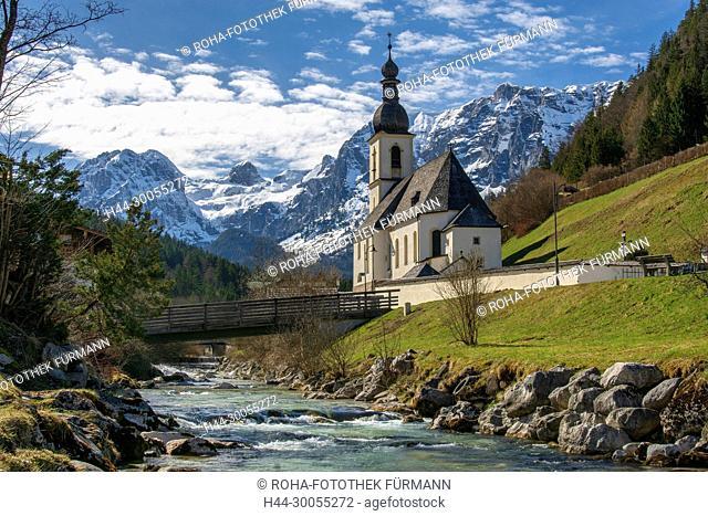 Bayern, Oberbayern, Berchtesgadener Land, Berchtesgaden, Alpen, Gebirge, Berge, Nationalpark, Gipfel, Ramsau, Ramsauer Kirche, Ramsauer Kircherl, hl