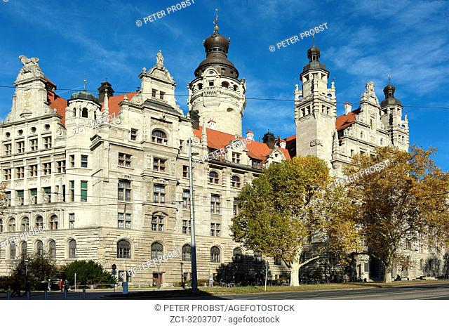 Town hall in the Saxon city Leipzig - Germany
