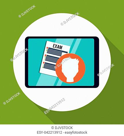 E-learning concept with icon design, vector illustration 10 eps graphic