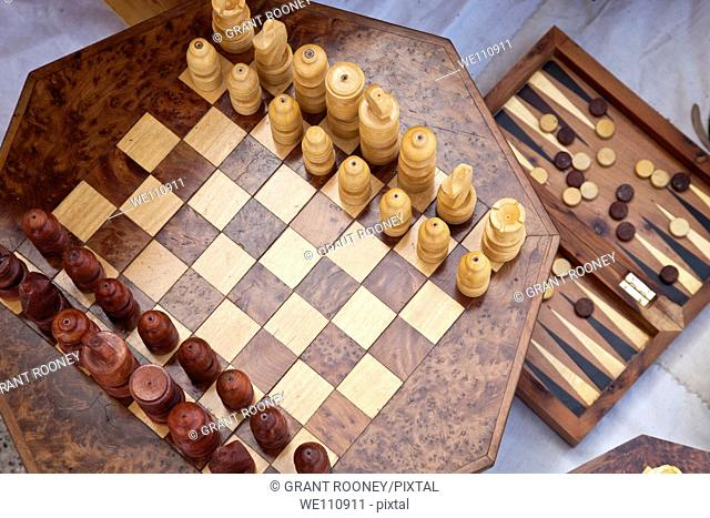 Chess and Backgammon Sets, The Souk, Agadir, Morocco