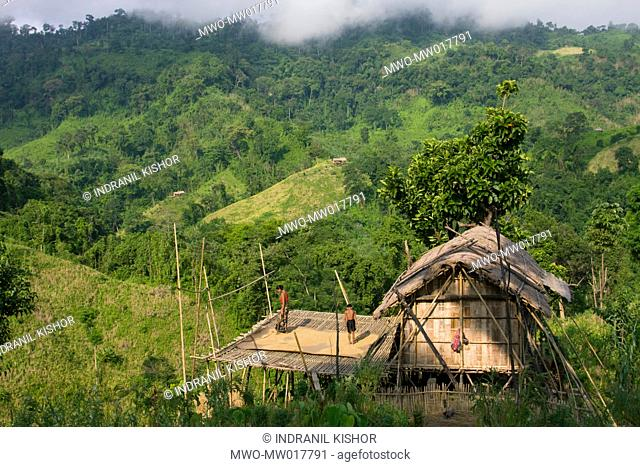 The 'Jhum ghar' is a temporary housing for living, treating and storing crops The village of Tindu, in Thanchi, Bandar Ban, Bangladesh October 9, 2008