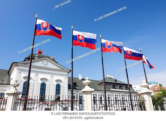 Grassalkovich Palace, Slovak presidential residence. Bratislava, Slovakia