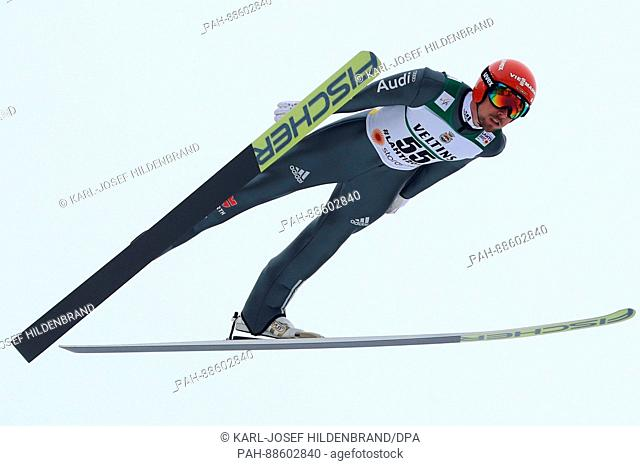 German athlete Johannes Rydzek competes in the men's 10 kilometre combination event at the Nordic Ski World Championship in Lahti, Finland, 28 February 2017