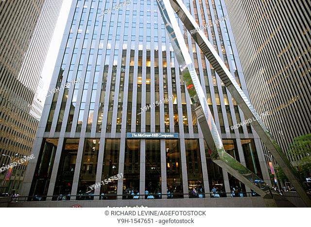 The McGraw-Hill Building, part of the extended Rockefeller Center complex built in the 1970's, is seen on Sixth Avenue in New York