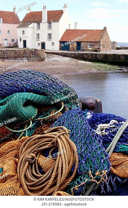 Fishing nets. Pittenweem. Scotland