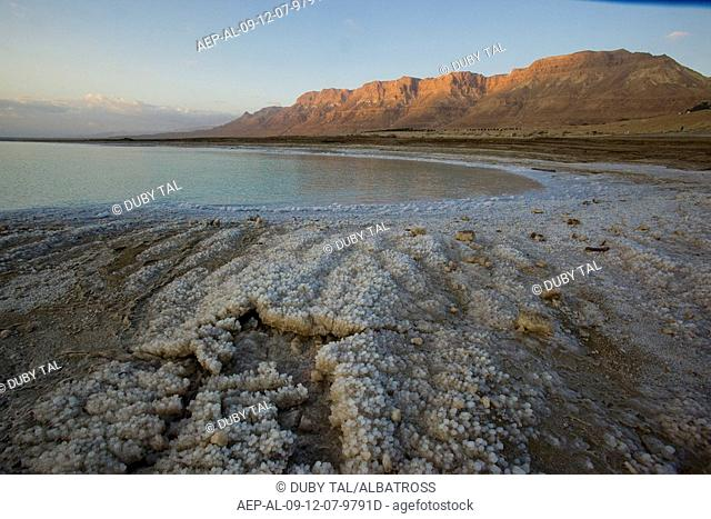 Photograph of the landscape of the Dead Sea